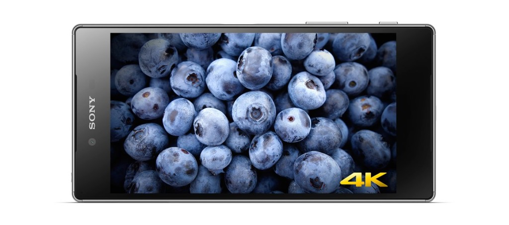 The Sony Xperia Z5 Platinum Android phone has a 4K resolution display. Photo: Sony website